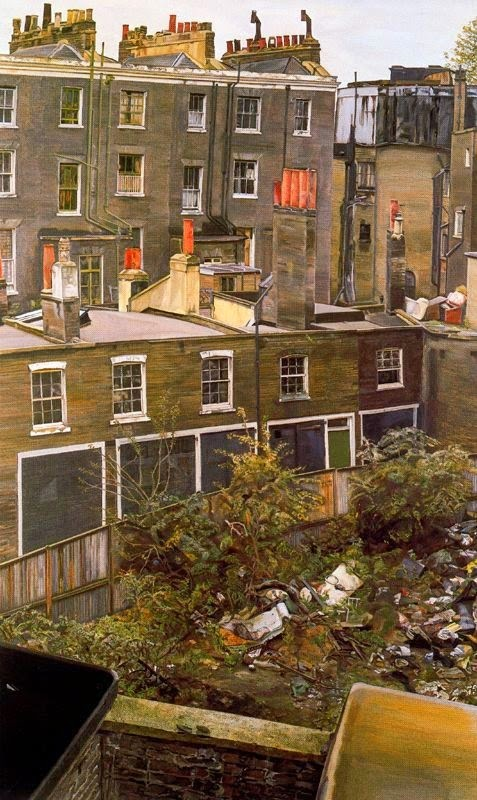 Lucian Freud - Terrain vague avec maisons, Paddington,1972.