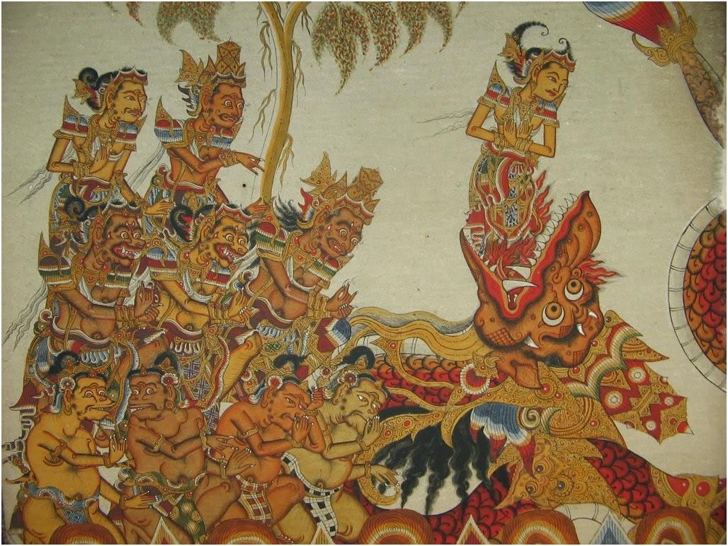 Painting at Kerta Gosa