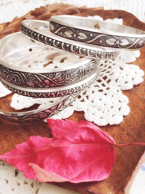 silver bangle set