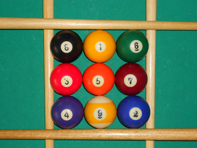 Installation of magic square 3x3 using pool balls photo 1