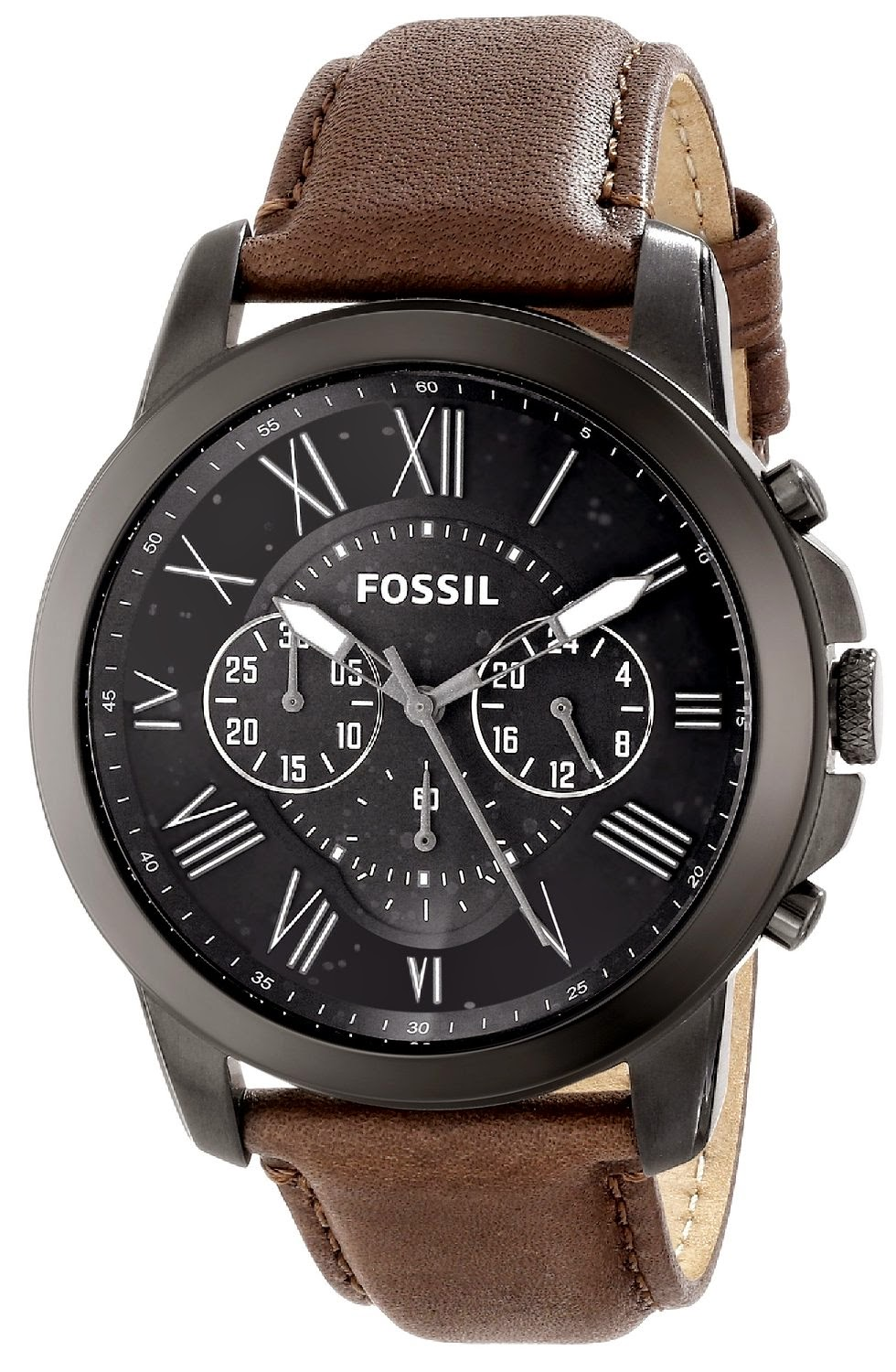 Fossil watches for men for Leather watch for men