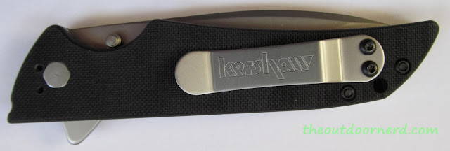 Kershaw Skyline Pocket Knife - Closeup Of Clip Mounted Tip Up
