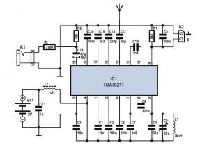 FM Radio Receiver Circuit with IC TDA 7012T   wiring radar
