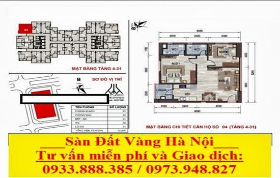 Mặt bằng chi tiết căn hộ Chung cư VP5 Linh Đàm