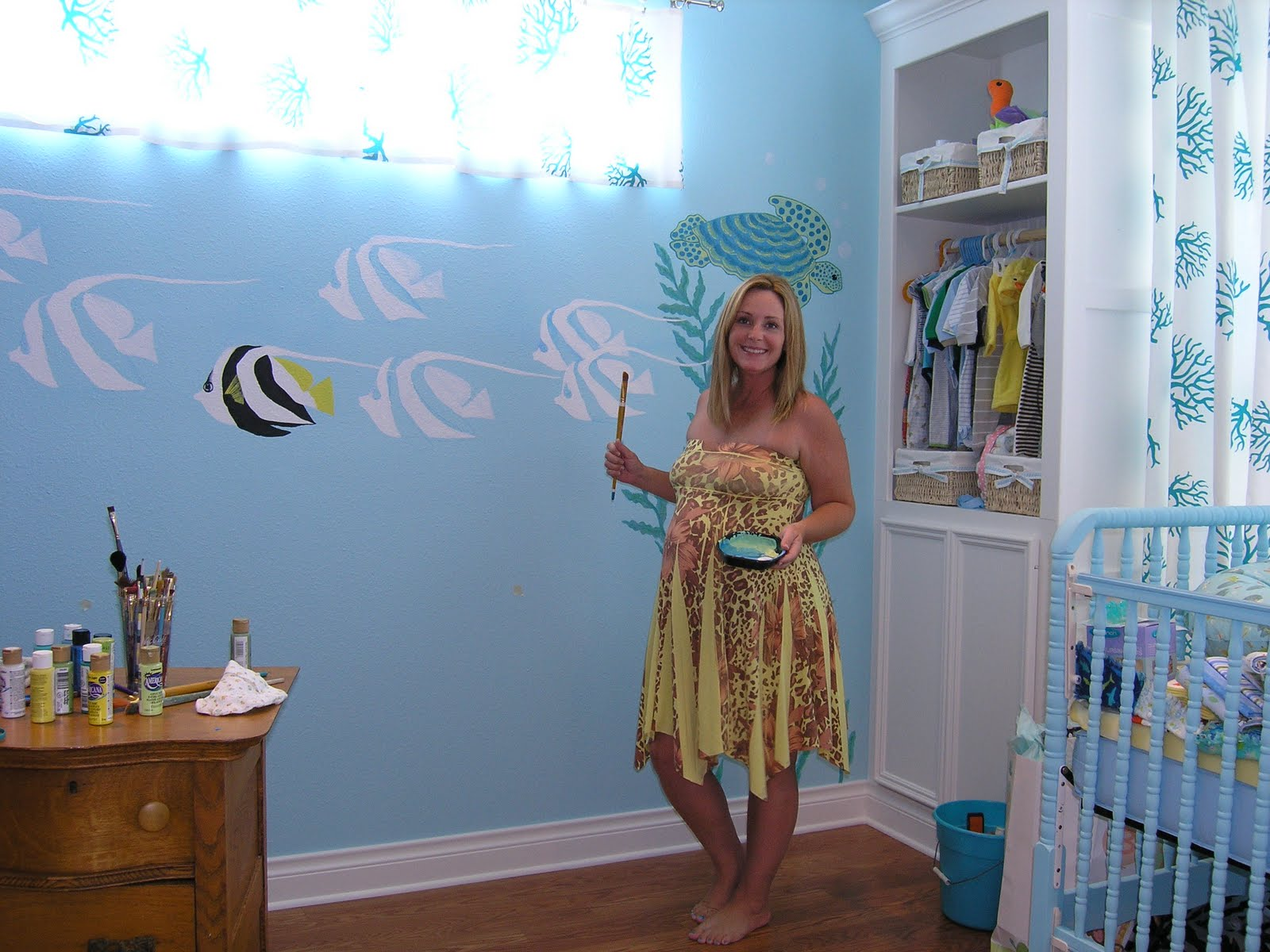 My project nursery painting the nursery mural for Children room mural