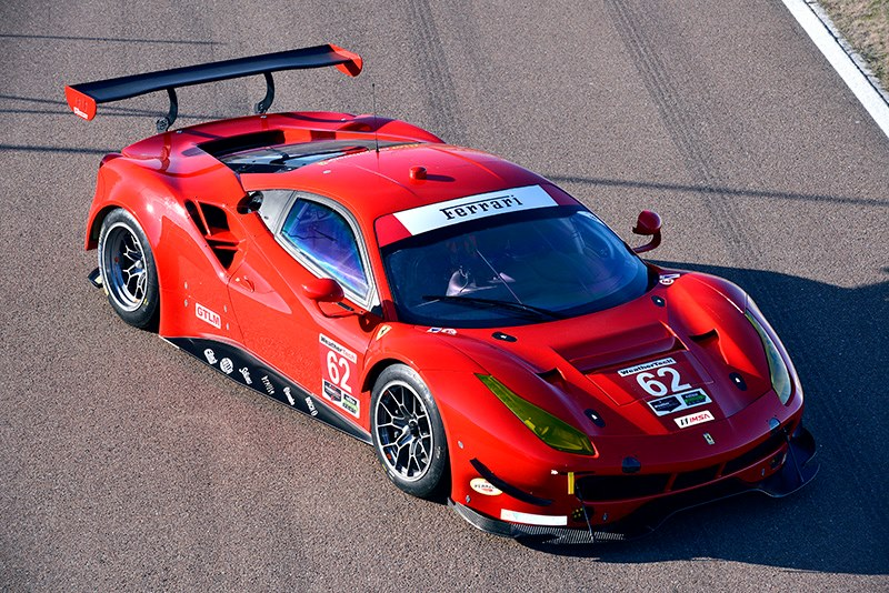 successful shake down for risi competizione ferrari 488 gte at
