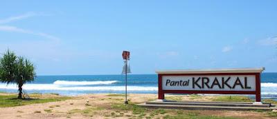 Wisata pantai krakal wonosari yogyakarta