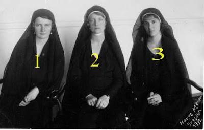 Les filles du roi Frédéric Auguste III de Saxe en février 1932