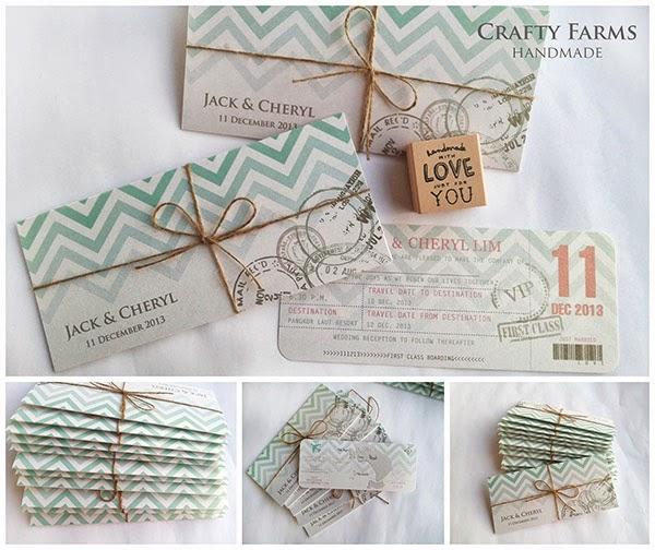 Wedding Card Malaysia Crafty Farms Handmade Tiffany