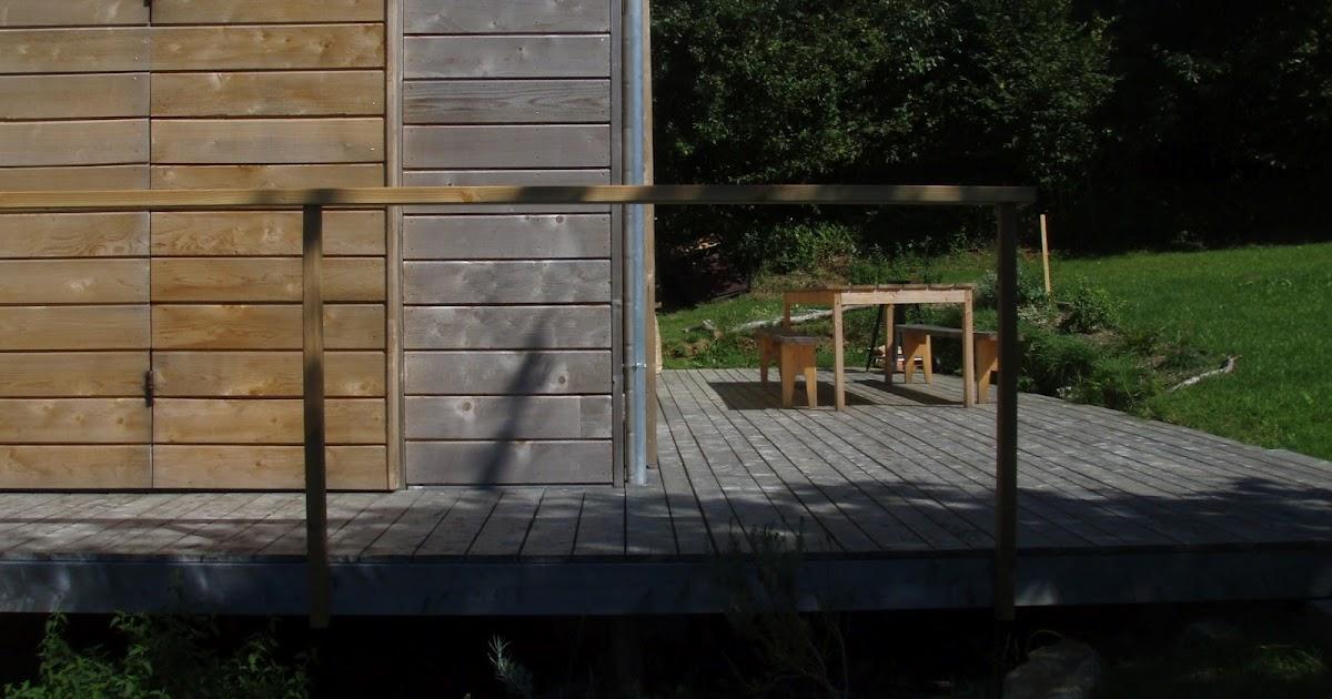 habitat bois garde corps avec filet de p che ch lut. Black Bedroom Furniture Sets. Home Design Ideas