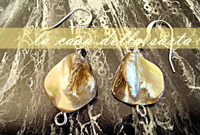 orecchini madre perla, argentone