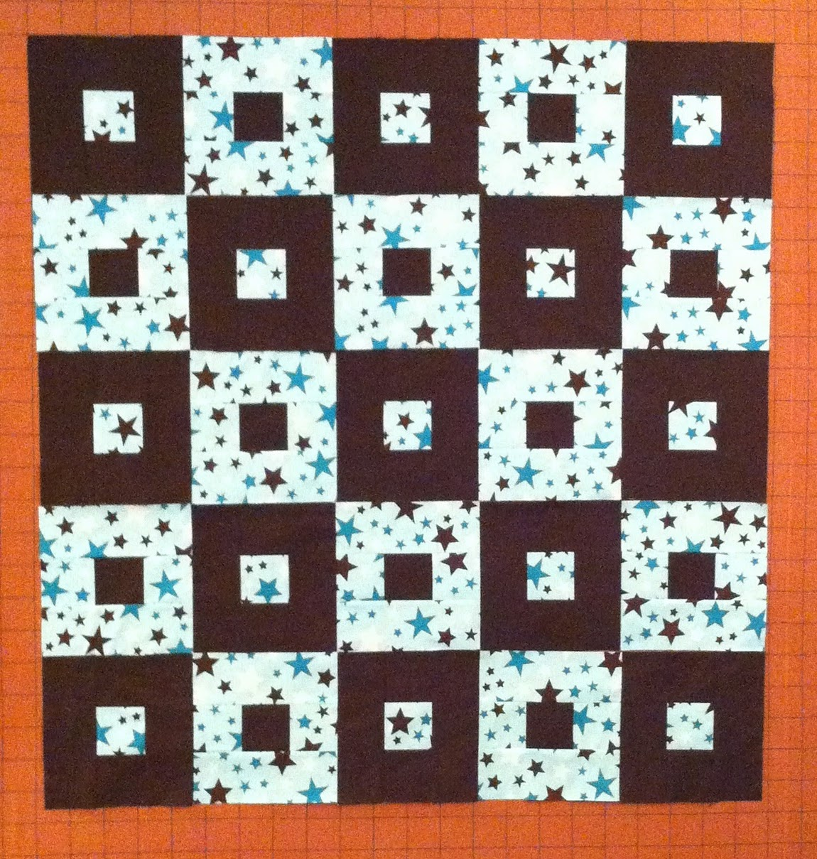 Quick Quilt, Donation Quilt, 2 Fabric Quilt, 2 Color Quilt