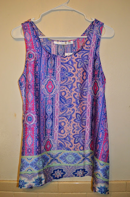 Clarise Mixed Print Tank Stitch Fix Fun2Fun