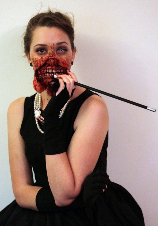 zombie audrey hepburn halloween costume damn cool pictures. Black Bedroom Furniture Sets. Home Design Ideas