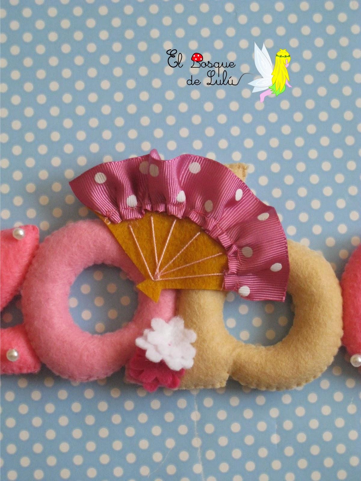 nombre-fieltro-flamenco-infantil-decoración
