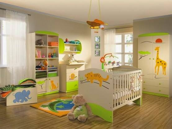 Jungle Inspired Themes For Kids Bedrooms  Room  Decoration Ideas Housedesignsandfurniture.blogspot.com 1