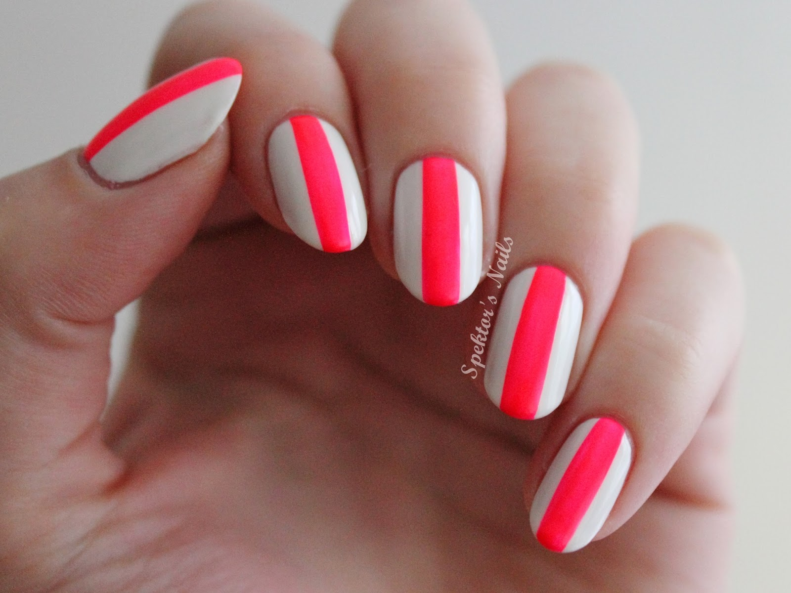 Bold Neon Stripes with China Glaze - Pool Party