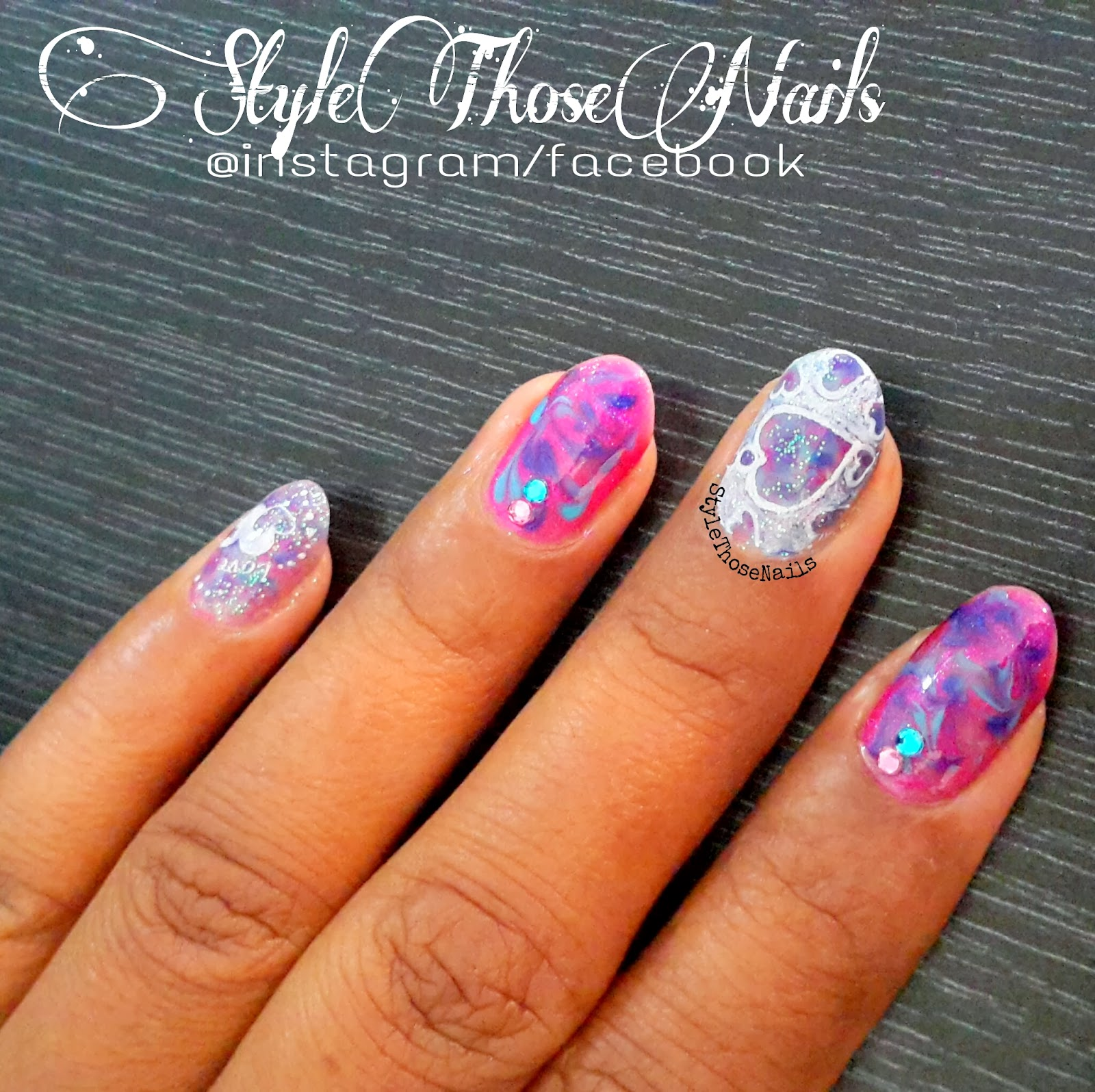 Style Those Nails: dry marbling