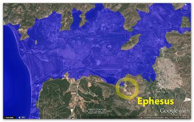 Ephesus map flooding