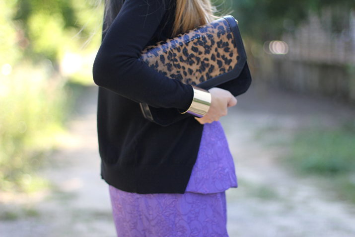 Animal print clutch Pull & Bear
