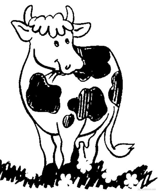 Vaca para colorear