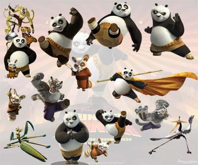 cliparts kung fu panda
