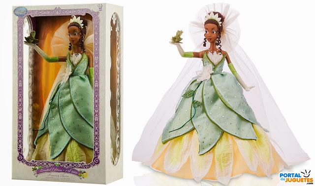 muñeca tiana edicion limitada caja pose