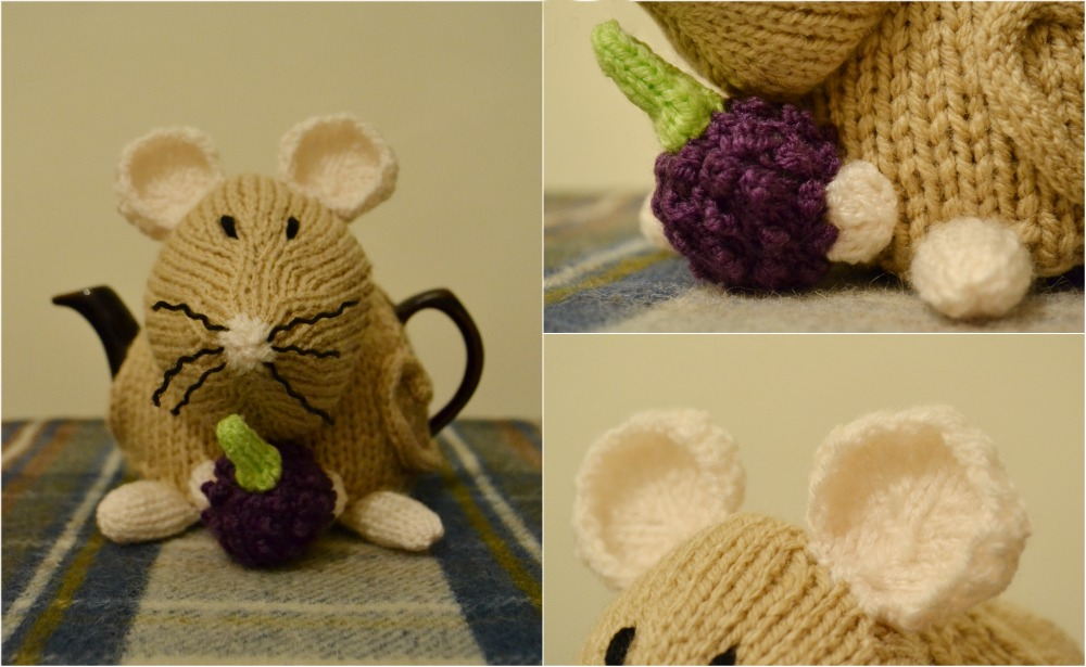 tea cosy folk dormouse pattern details berry ears