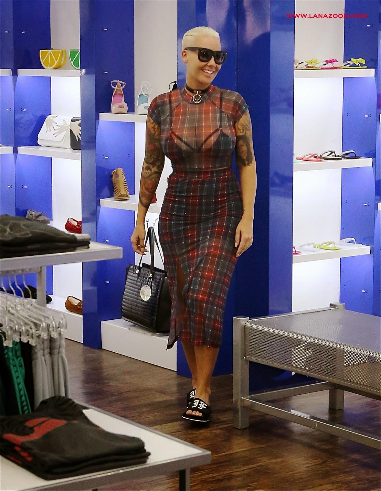 امبر روز تتسوق في لوس انجلوس - أبريل 2015