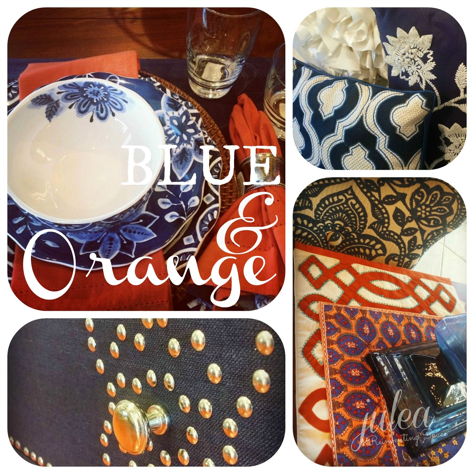 Tales of an interior stylist home decorating ideas blue for Orange and blue decorating ideas