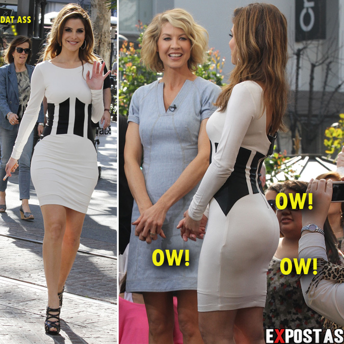 Maria Menounos: Set do programa 'Extra', no The Grove, em Los Angeles - 14 de Fevereiro de 2013