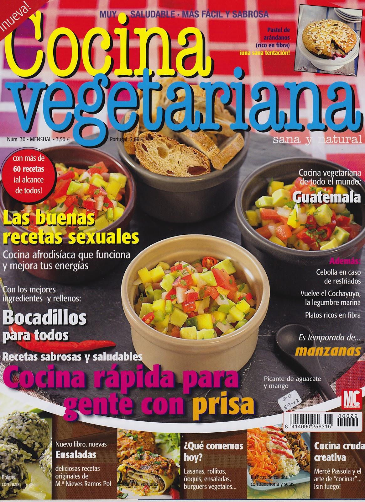 Vegan cocinavegetariano en la revista cocina for Blogs cocina vegetariana