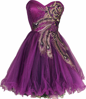purple short prom dresses 2013 - 2014, cheap tutu prom dress with peacock prints