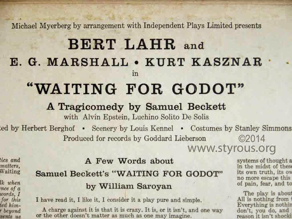 samuel beckett waiting for godot essays