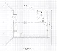 planos de cimiento base de vivienda de madera
