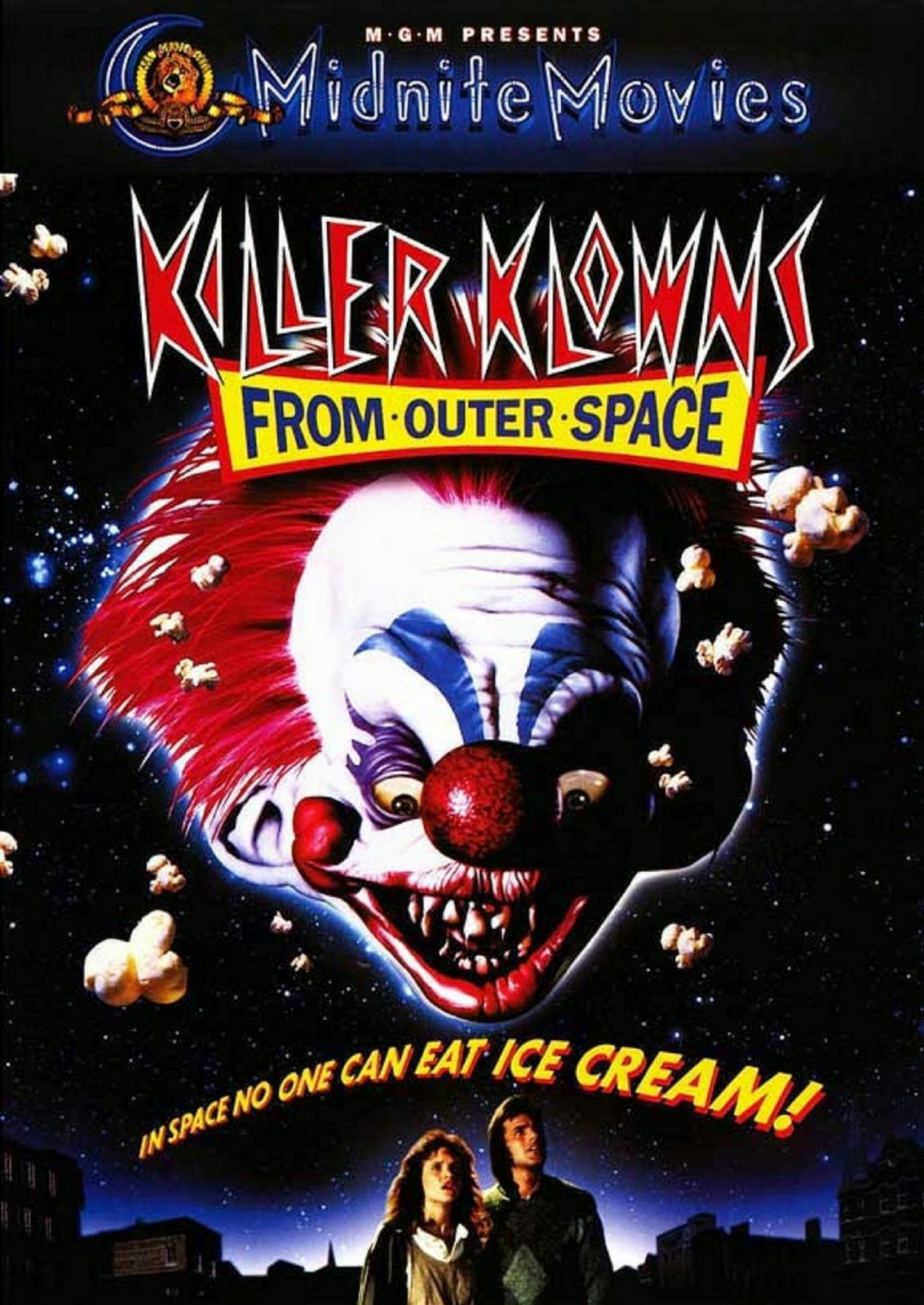 Chiodos bandnaam verklaring - Killer Klowns from Outer Space filmposter