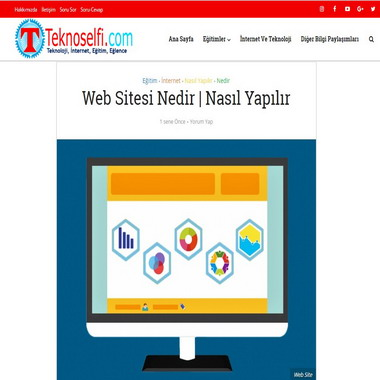 teknoselfie com - web sitesi nedir nasıl yapılır