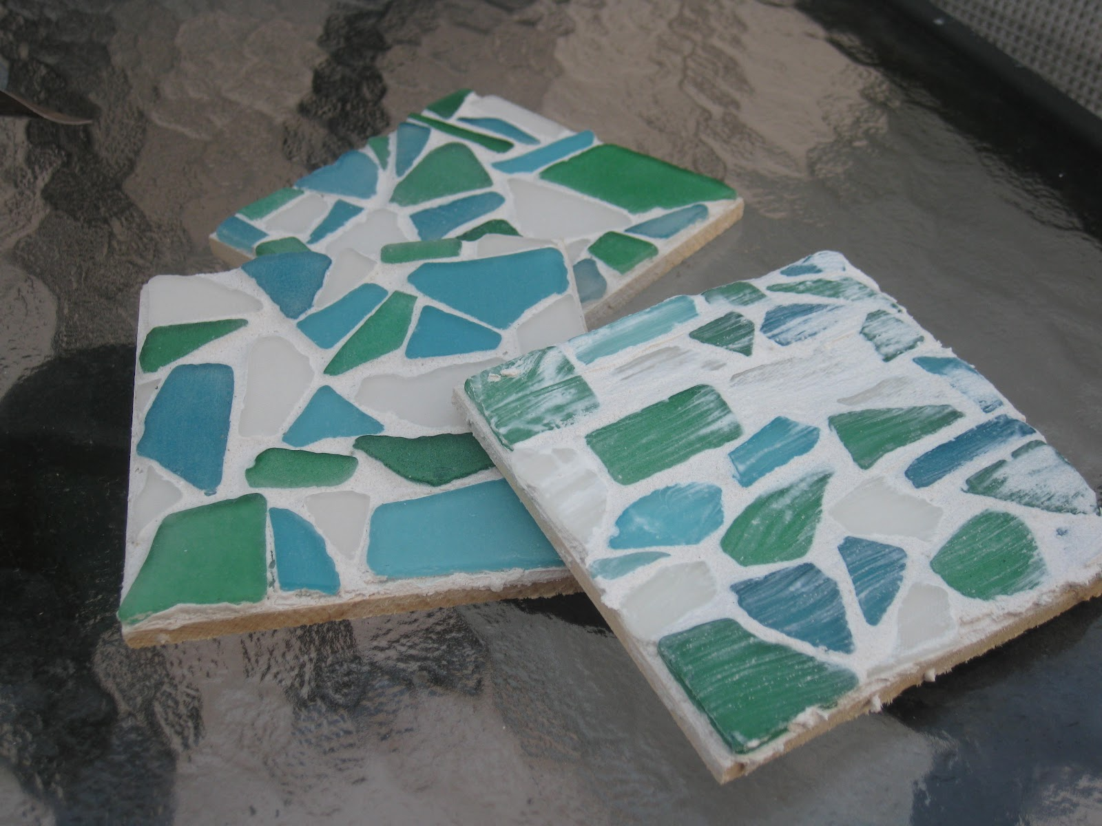 blue jean on fifth diy sea glass coasters - How To Make Sea Glass