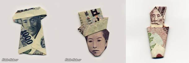 Moneygami - origami feito com dinheiro por Yosuke Hasegawa