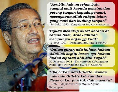 pengkhianatan Mahathir Islam