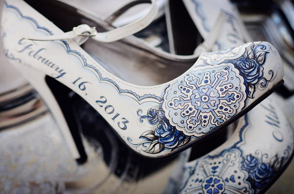 handpainted wedding shoes