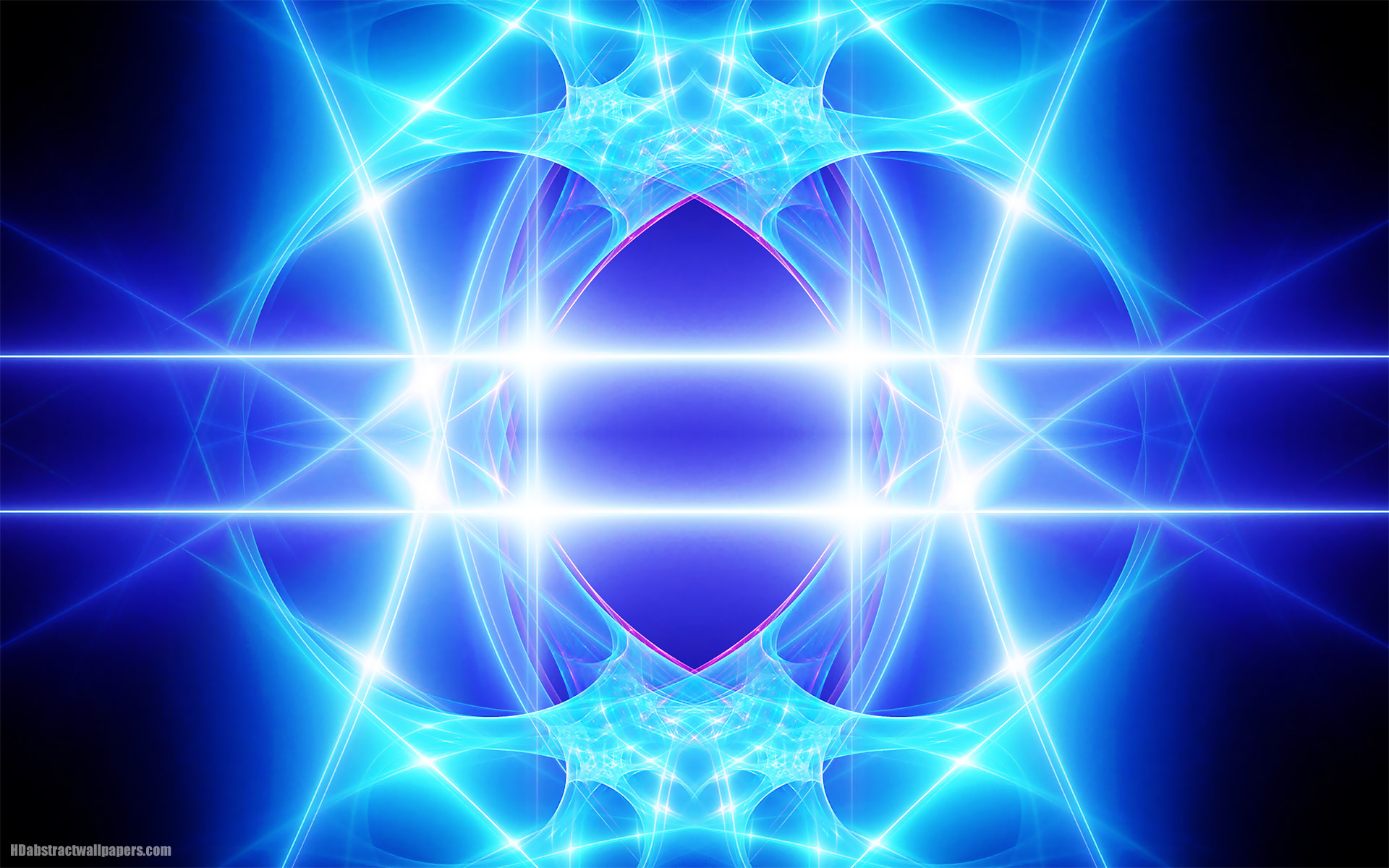 Blue Abstract Background With Lines And Bright Lights