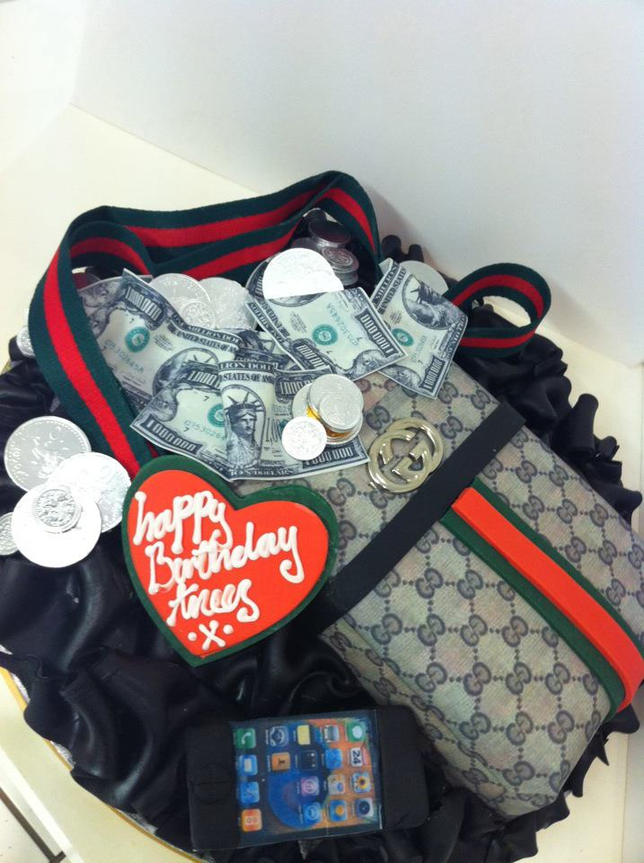 Iced Out Company Cakes The Gucci Man Bag Cake