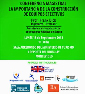 Conferencia del entrenador Frank Dick en Uruguay (15/sep/2014)