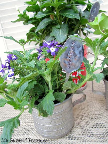 silverware garden markers