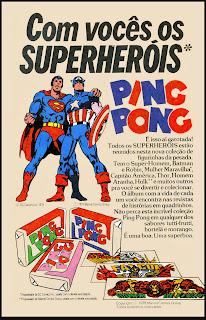 propaganda chiclete Ping Pong - 1979.  os anos 70; propaganda na década de 70; Brazil in the 70s, história anos 70; Oswaldo Hernandez;