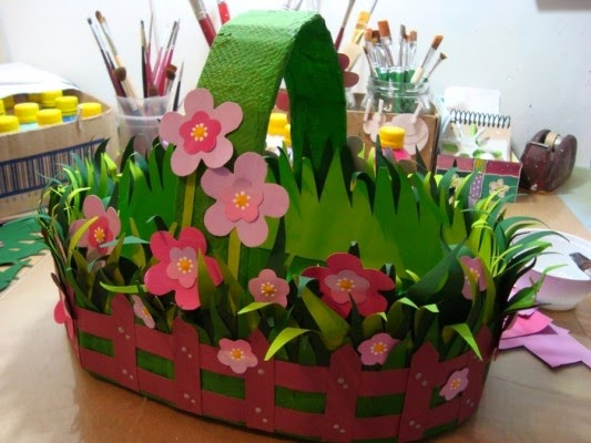 Easy craft idea easter basket - Easter basket craft ideas ...