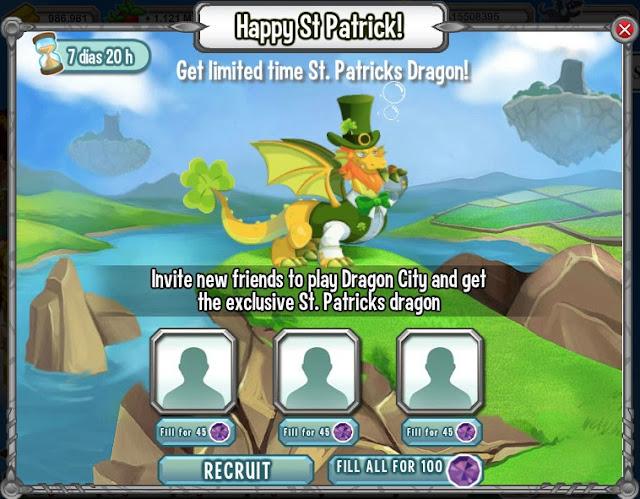 invita a 3 amigos y gana el dragon san patricio