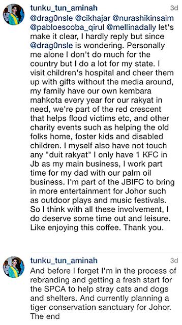 Komen Balas Tunku Aminah Di Instagram Jawab Persoalan Keyboard Warriors!