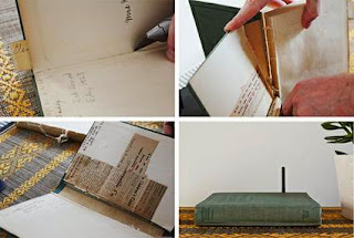 Hide the router with an old book